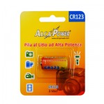 ALCAPOWER - BATTERIA AL LITIO CR 123A, 3V